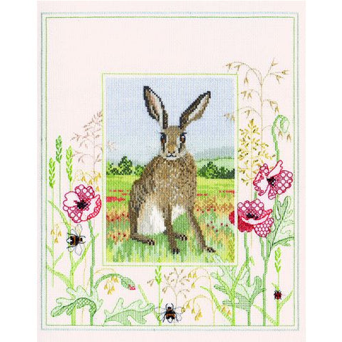 Derwentwater Designs Wildlife Cross Stitch Kit - Hare