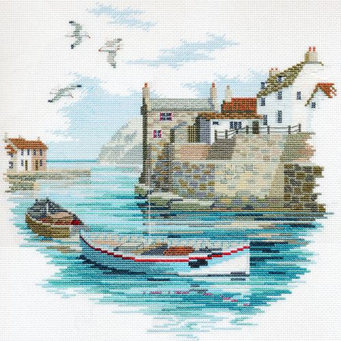 Derwentwater Designs Coastal Britain Cross Stitch Kit - Secluded Port