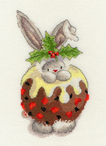 Bothy Threads Bebunni Cross Stitch Kit - Christmas Pudding