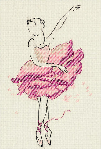 Panna Cross Stitch Kit : Rose Flower Ballerina