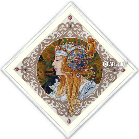 Merejka Cross Stitch Kit - Blond By Mucha