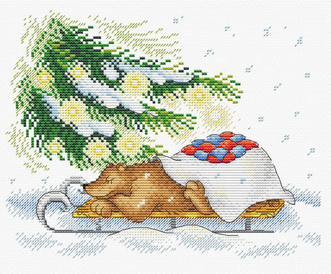 MP Studia Cross Stitch Kit - Holiday Retreat