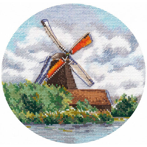 Oven Cross Stitch Kit - Miniature Windmill