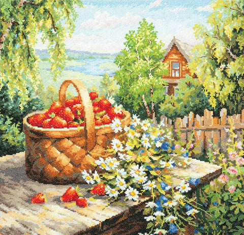 Magic Needle Cross Stitch Kit - Summer House