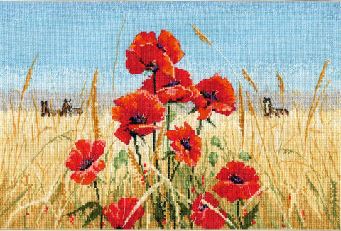 Oven Cross Stitch Kit - Summer Field Poppies