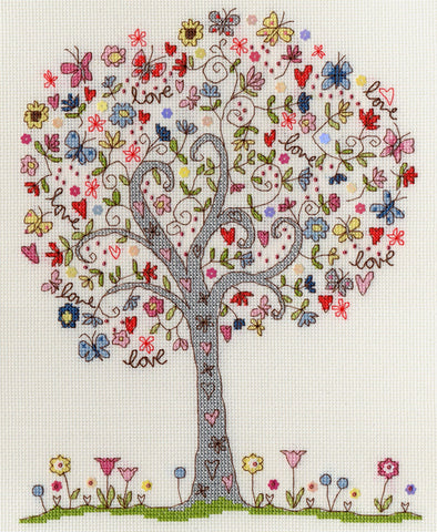 Bothy Threads Cross Stitch Kit - Love Tree