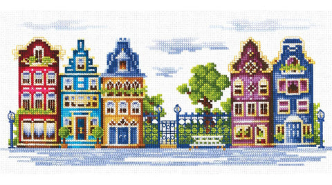 Andriana Cross Stitch kit - Peaceful Street