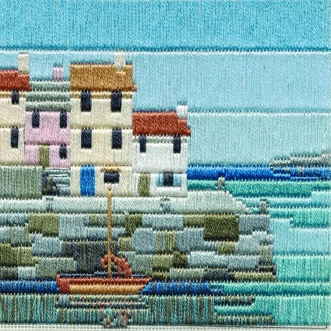 Derwentwater Designs Silken Long Stitch Kit - Fishermen's Cottages