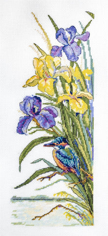 Merejka Cross Stitch Kit - Kingfisher
