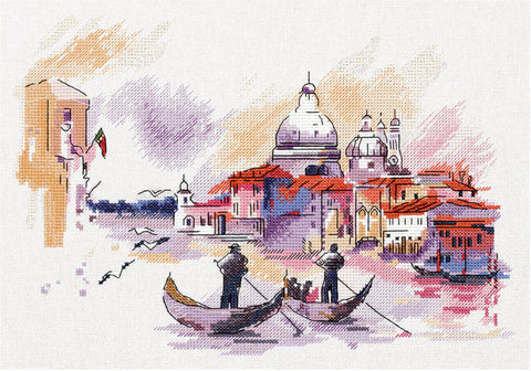 Panna Cross Stitch Kit - Travelling Around Venice