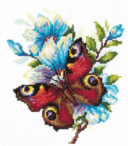 Magic Needle Cross Stitch - Peacock Butterfly