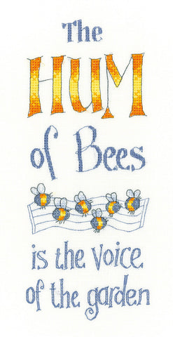 Heritage Crafts Peter Underhill Cross Stitch Kit - The Hum Of Bees (Evenweave)