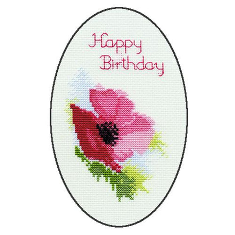 Derwentwater Designs Greeting Card Kit - Poppy