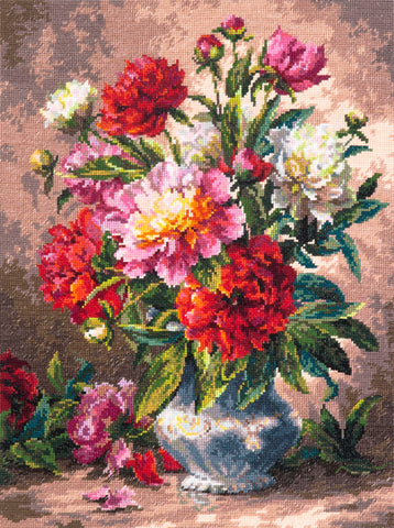 Magic Needle Cross Stitch - Peonies