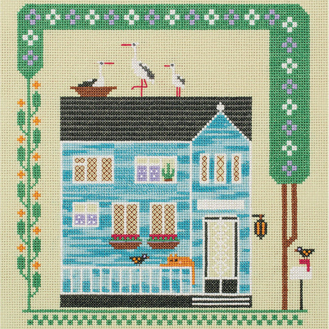 Panna Cross Stitch Kit - The House Where The Cat Lives