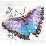 Alisa Cross Stitch Kit - Blue Butterfly