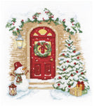 Oven Cross Stitch Kit - Holiday Knocks On The Door