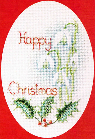 Derwentwater Designs Christmas Cross Stitch Card Kit - Snowdrops
