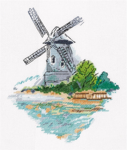 Klart Cross Stitch Kit - Windmill On The Shore