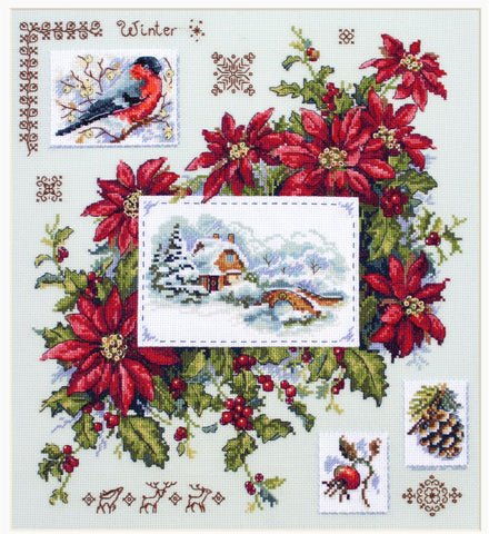 Merejka Cross Stitch Kit - Winter Sampler