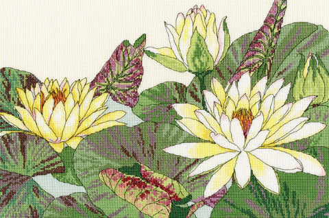 Bothy Threads Cross Stitch Kit - Water Lily Blooms
