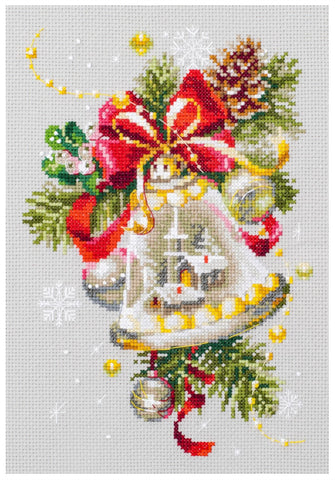 Magic Needle Cross Stitch Kit - Christmas Bell
