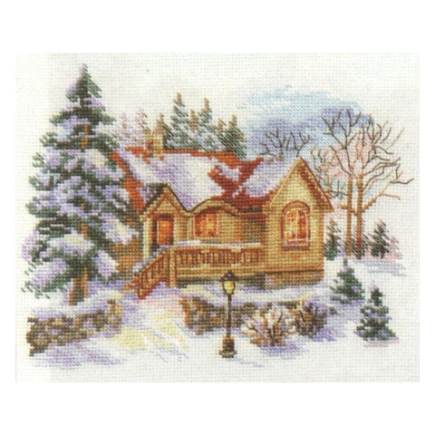 Alisa Cross Stitch Kit - February house