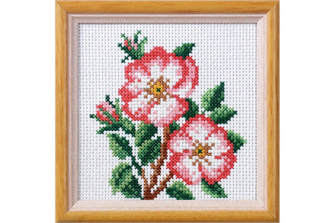 Orchidea Printed Cross Stitch Kit - Christmas Roses