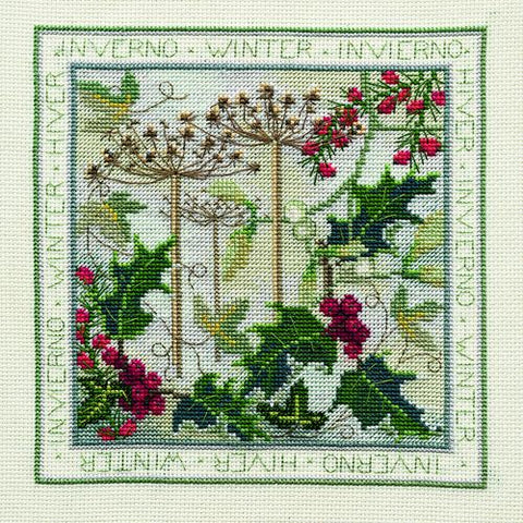 Derwentwater Designs Four Seasons Cross Stitch Kit - Winter