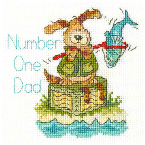 Bothy Threads Cross Stitch Card Kit - Number One Dad