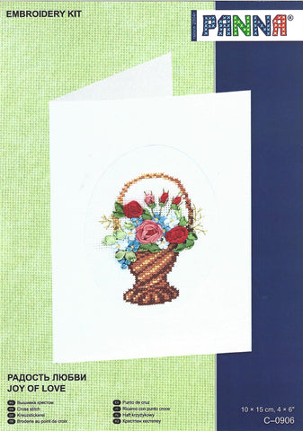 Panna Cross Stitch Card Kit - Joy Of Love