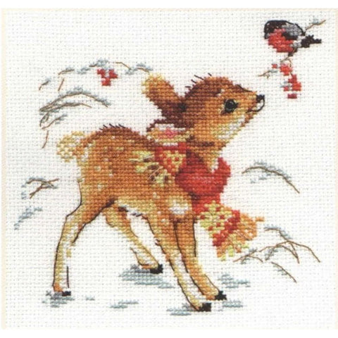 Alisa Cross Stitch Kit - Little Deer