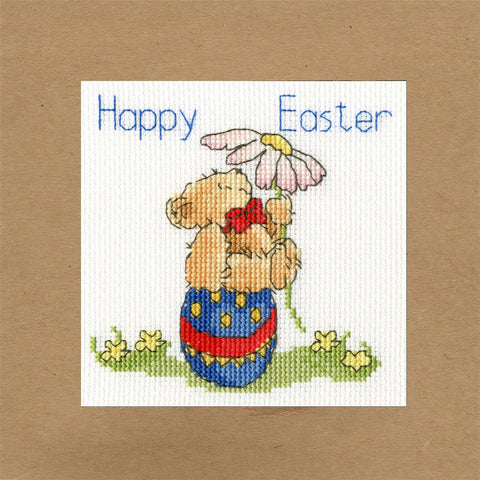 Bothy Threads Cross Stitch Card Kit - Easter Teddy