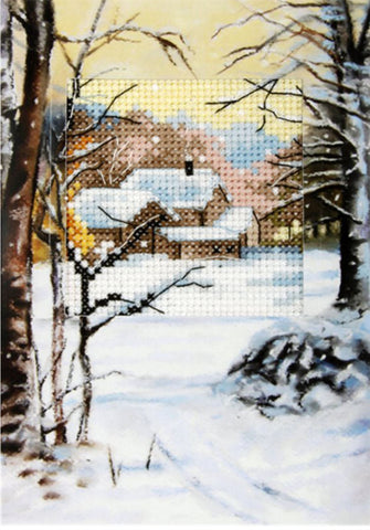 Orchidea Cross Stitch Card Kit - Winter Trees