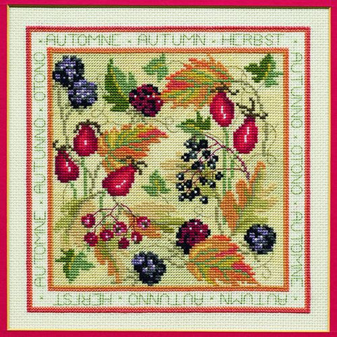 Derwentwater Designs Four Seasons Cross Stitch Kit - Autumn
