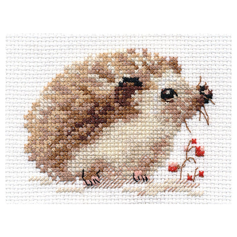 Alisa Cross Stitch Kit - Little Hedgehog