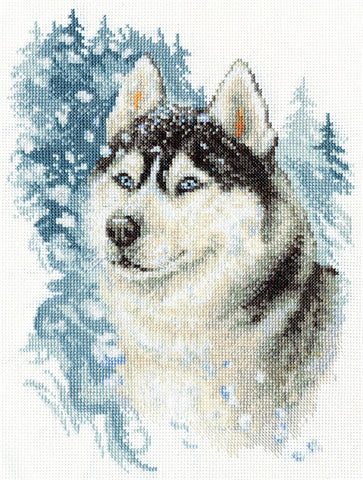 Panna Cross Stitch Kit - Loyal Husky