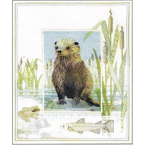 Derwentwater Designs Wildlife Cross Stitch Kit - Otter