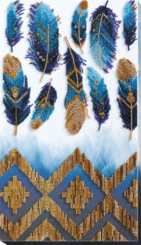 Abris Art Bead Embroidery Kit With Thread - Indigo