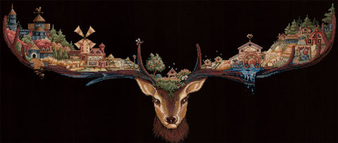 Andriana Cross Stitch Kit - Deer Land