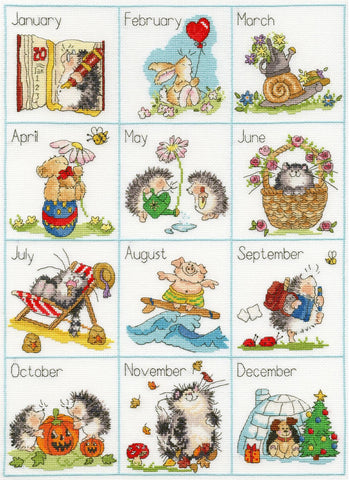 Bothy Threads Cross Stitch Kit - Calendar Creatures