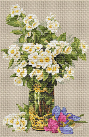 Merejka Cross Stitch Kit - Sweet-Scented Bouquet