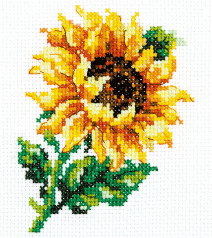 Magic Needle Cross Stitch - Small Sunflower