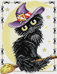 MP Studia Cross Stitch Kit - Black Cat Charm