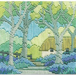 Derwentwater Designs Silken Long Stitch Kit - Bluebell Cottage