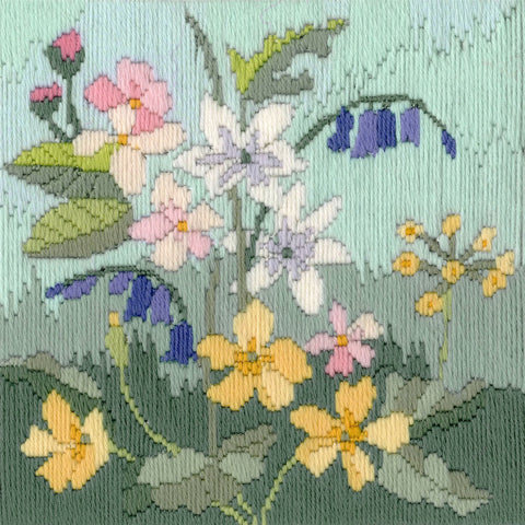Derwentwater Designs Cross Stitch Kit - Long Stitch Seasons - Spring