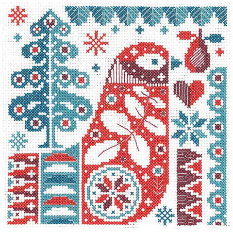 Lucie Heaton Cross Stitch Kit - Scandi Bird