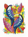 Heritage Crafts Cross Stitch Kit - Toucans (Aida)