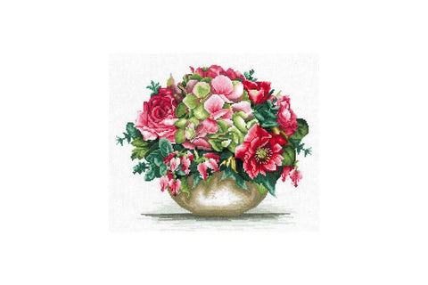 Andriana Cross Stitch Kit - Tender Bouquet