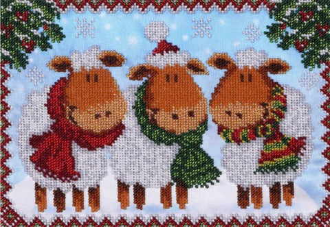 VDV Bead Embroidery Kit - Christmas Card